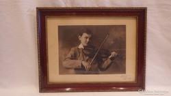 Hegedűs régi fotó képkeret falc 24x31,5 cm