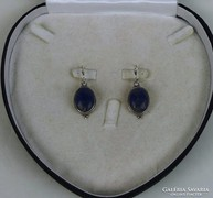 Lápis lazulit ezüst fülbevaló