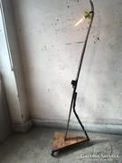 Gyönyörű antik síléclámpa, vintage állólámpa, loft állólámpa