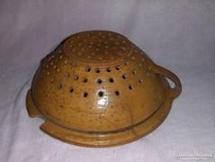 Antik cserép szűrő tésztaszűrő (g)