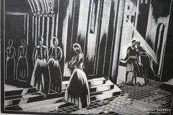Fametszet Gáborjáni Sz. K. : Faust illusztráció