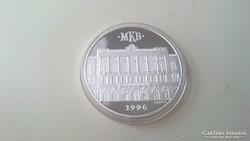 Ezüst emlékérme MKB.1996. 0.999