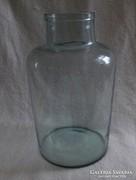 Antik halvány zöld befőttes dunsztos üveg (pi-3)