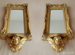 Álomszép figurás fali tükör + konzol garnitúra