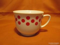 Piros pöttyös bögre, csésze