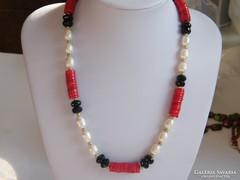 Valódi,Korall,Ónix,tenyésztett gyöngy