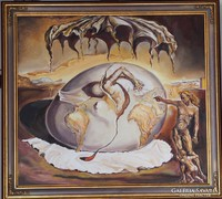 Salvador Dalí: Az új ember születését figyelő... Reprodukció