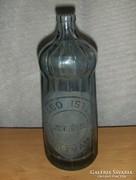 Régi füst színű feliratos szoknyás szódásüveg 0,7 l (7)