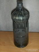 Régi füst színű feliratos szoknyás szódásüveg 0,7 l (9)