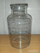 Antik befőttes dunsztos öntött üveg (pi-5)