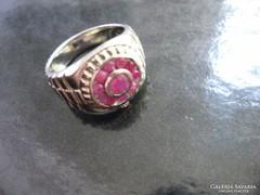 Egyedi valódi rubin köves ezüst gyűrű BIZSUTÉRIA 2016 részér