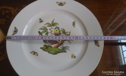 28cm-es Herendi porcelán Rothschild gyári falitányér