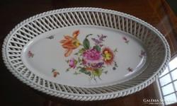 Bouquet Herend mintás fonott asztalközép Herendi porcelán