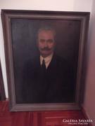 Baráth József Portré idős ügyvéd