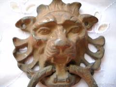 Antik réz oroszlánfej ajtókoppantó eladó!
