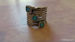 Izraeli 925 opál gyűrű