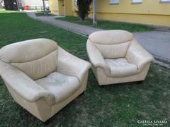 2 db Longlife bőr fotel párban