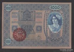 1000 korona 1902. (MO. felül bélyegzés), EF+++ !!!
