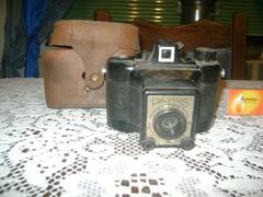Régi PAJTÁS fényképezőgép bőr tokjában