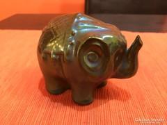 Zsolnay art deco elefánt gyönyörű sötét színben!