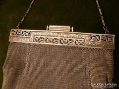 Art deco ezüst színházi táska