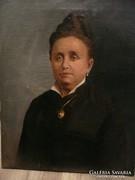 Zilzer Antal (1860-1921) gyönyörű nagy méretű portréja eladó