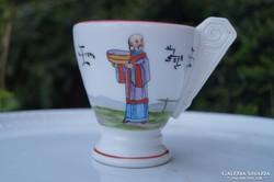 Herendi antik csésze Seszták János műhelyéből 1893