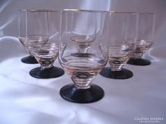 LEÁRAZVA! 6 db. Art Deco pohár