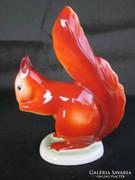 Hollóházi porcelán mókus
