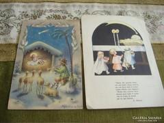 Megszületett a kis Jézus/Születés, antik haszn.lapok
