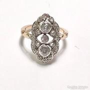Antik Art Deco 14K Arany Gyűrű Gyémántokkal c 0.80 ct