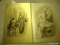 Karácsonyi jókívánságok: dombornyomású képeslapok