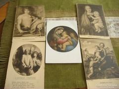 5 db postatiszta olasz régi lap: Keresztelő Szent Já