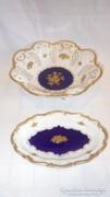 Német Echt Kobalt aranyozott porcelán tálak