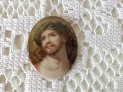 Régi kézzel festett porcelán betét