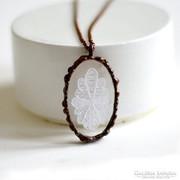 Halasi csipke bronz Tiffany medál