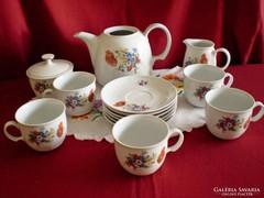 Kahla pipacsos porcelán kávés készlet