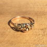 Női arany gyűrű magyar fémjeles PV.