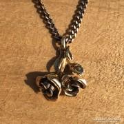 Antik női arany rózsa medál