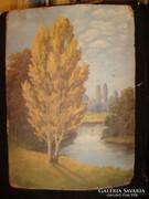 Dobay jelzett olajfestmény 45x31 cm