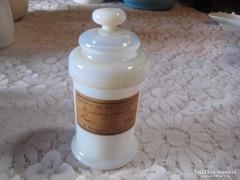 Üveg patika edény ,antik