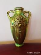 Zsolnay eozin füles váza