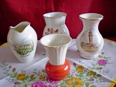 Különböző jelzett porcelán váza darabra (Bavaria)