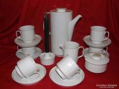 Rosenthal Studio-Line kávés/teás készlet 6 sz.+ gyertyatartó