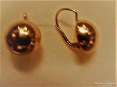 Nagyméretű 14K arany fülbevaló