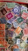 2.000 db külföldi bélyeg 1930 - tól pecsételt