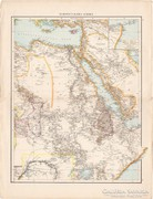 Északkelet - Afrika, Egyiptom, Algéria, Tunisz térkép 1887