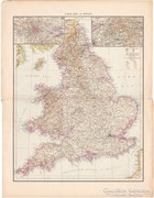 Anglia és Wales, Skócia, Írország térkép 1887, német