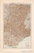 Francia-Olasz - Alpok, Délkelet - Franciaország térkép 1887
