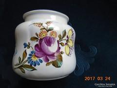 Kézzel festett kerámia  gyógynövény tároló